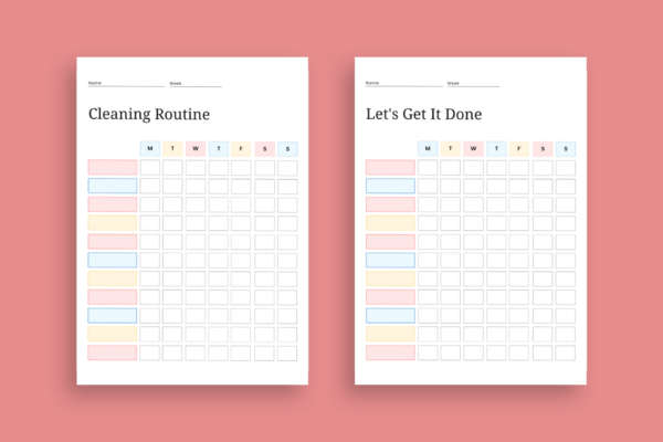 Cleaning and chore schedules
