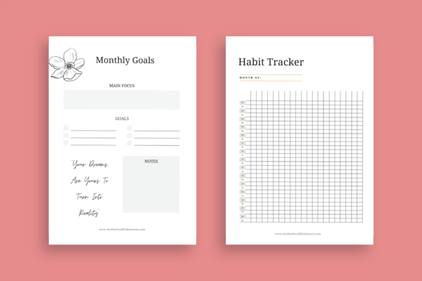 Monthly goals and habit tracker