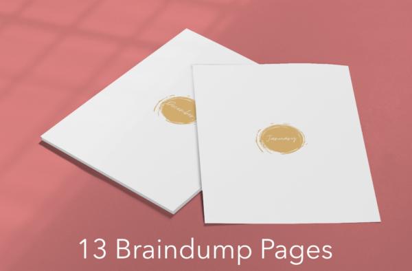 Printable braindump pages