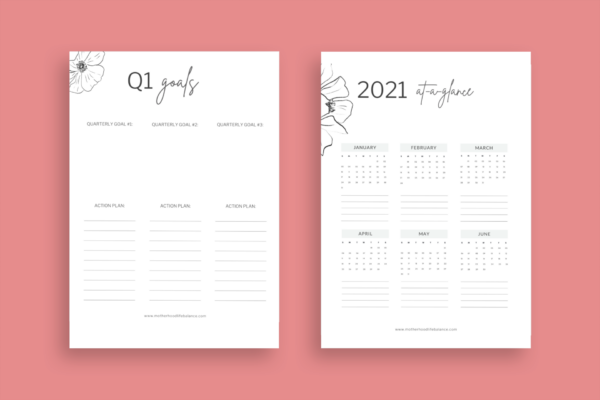 Q1 Goals 2021 year at a glance