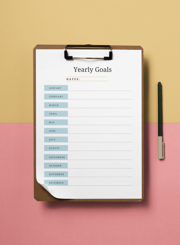 Yearly Goal Planner