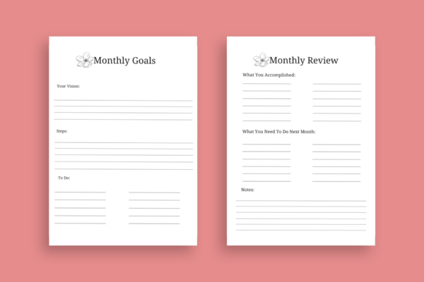 monthly goals:review