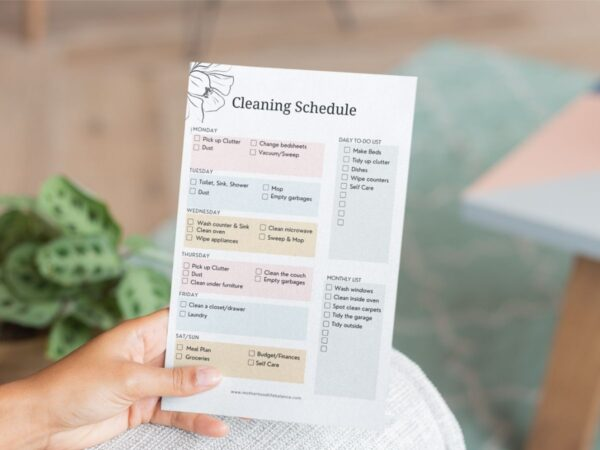 Easy Cleaning Schedule